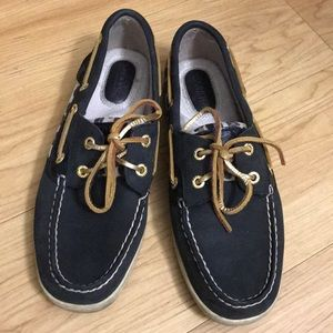 Sperry cheetah print loafer
